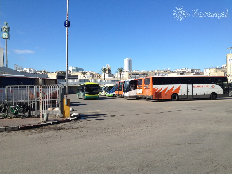 Автобусная станция (таханат меркази или автовокзал) в Натании