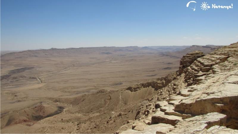 Эрозионный кратер Рамон в пустыне Арава